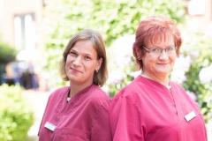 K. Jaschinski / PDL und R. Steinbach / Bereichsleitung und exam Altenpflegerin